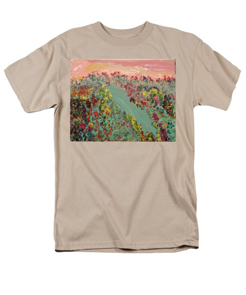 Hillside Flowers Men's T-Shirt  (Regular Fit) by Karen Nicholson