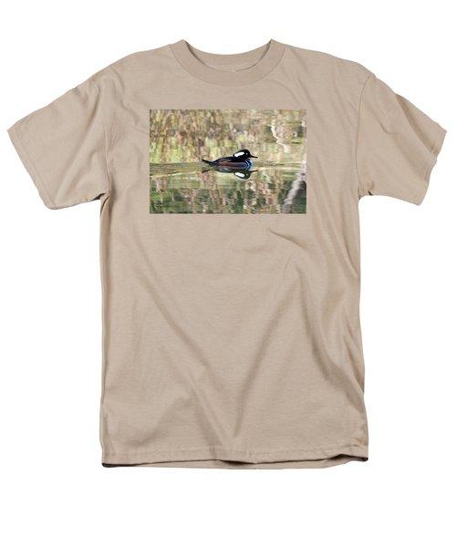 Hooded Merganser Men's T-Shirt  (Regular Fit) by Elizabeth Budd