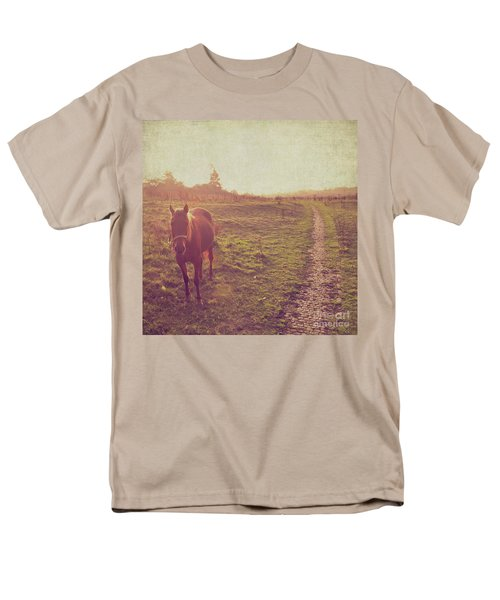 Men's T-Shirt  (Regular Fit) featuring the photograph Horse by Lyn Randle