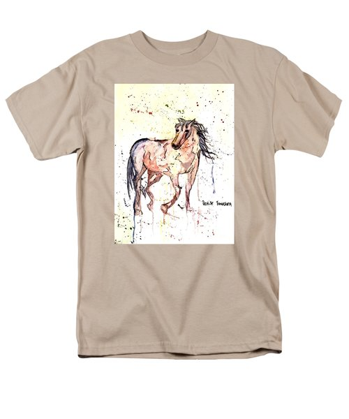 Men's T-Shirt  (Regular Fit) featuring the painting Horse Seekers by Denise Tomasura