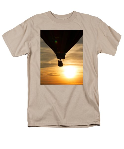 Hot Air Balloon Sunset Silhouette Men's T-Shirt  (Regular Fit) by Brian Caldwell