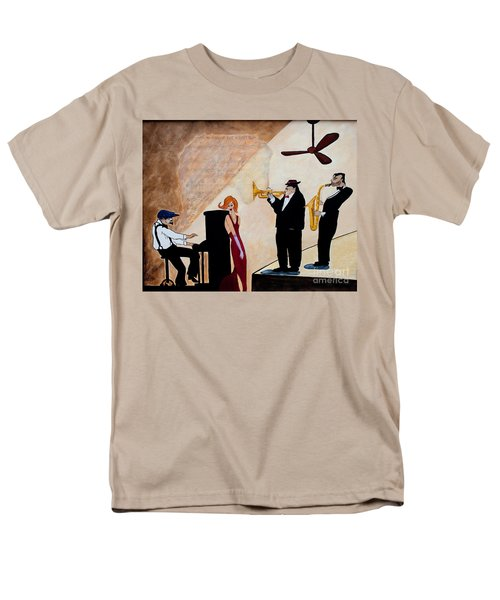 Men's T-Shirt  (Regular Fit) featuring the painting House Of The Rising Sun by Barbara McMahon