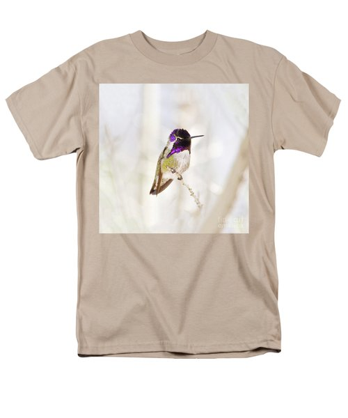 Men's T-Shirt  (Regular Fit) featuring the photograph Hummingbird Larger Background by Rebecca Margraf