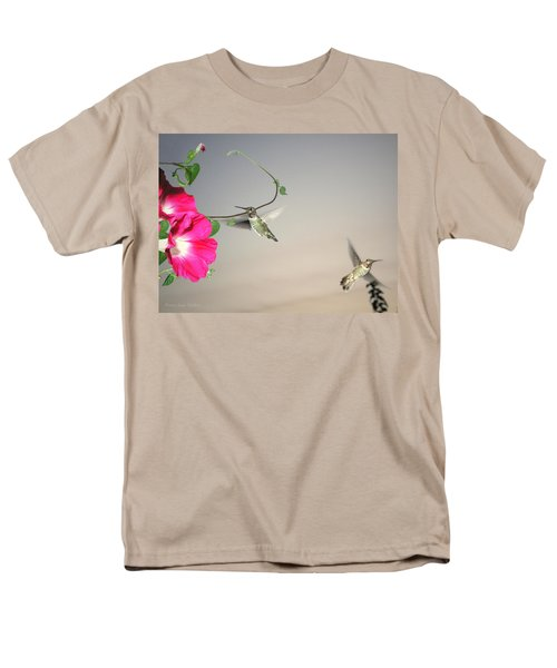 Men's T-Shirt  (Regular Fit) featuring the photograph Hummingbirds Coming And Going by Joyce Dickens