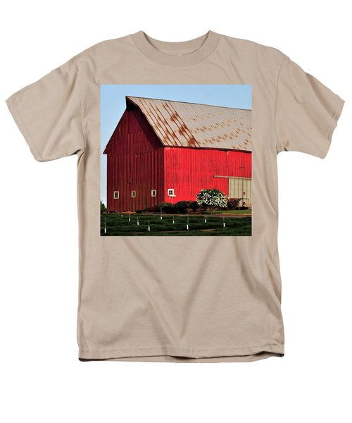 Hwy 47 Red Barn 21x21 Men's T-Shirt  (Regular Fit) by Jerry Sodorff