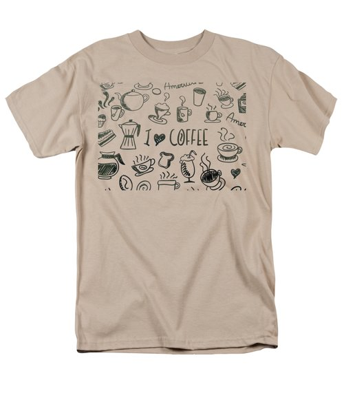 I Love Coffee Men's T-Shirt  (Regular Fit) by Tracey Harrington-Simpson