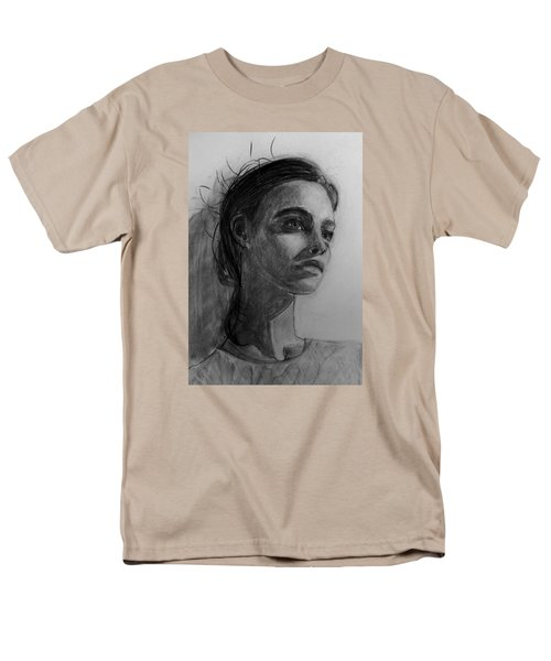 Men's T-Shirt  (Regular Fit) featuring the painting In This Silence I Believe by Jarko Aka Lui Grande