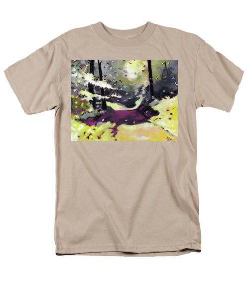 Men's T-Shirt  (Regular Fit) featuring the painting Into The Woods 2 by Anil Nene