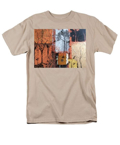 Men's T-Shirt  (Regular Fit) featuring the mixed media Into The Woods by Pat Purdy