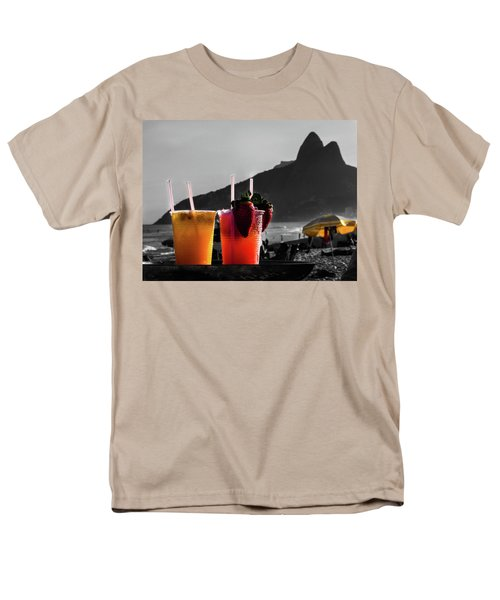 Ipanema With Cocktails Men's T-Shirt  (Regular Fit) by Cesar Vieira