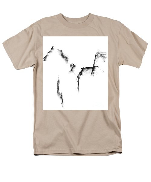 Men's T-Shirt  (Regular Fit) featuring the painting Its Just A Little Sketch by Frances Marino