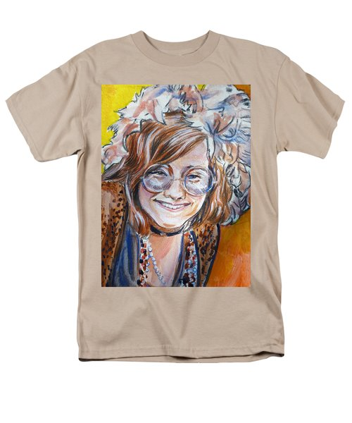Janis Joplin Men's T-Shirt  (Regular Fit) by Bryan Bustard