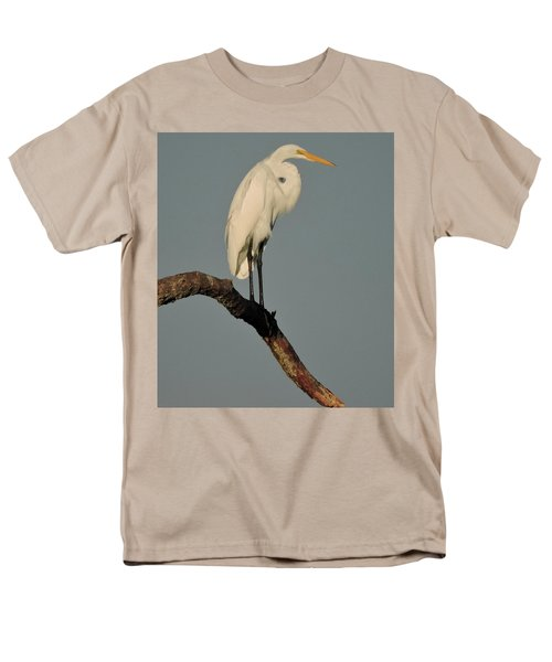 January Egret Men's T-Shirt  (Regular Fit) by Peg Toliver
