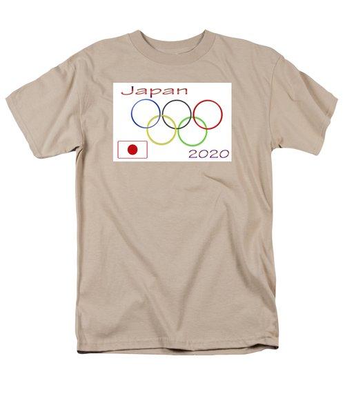 Japan Olympics 2020 Logo 3 Of 3 Men's T-Shirt  (Regular Fit) by Tina M Wenger