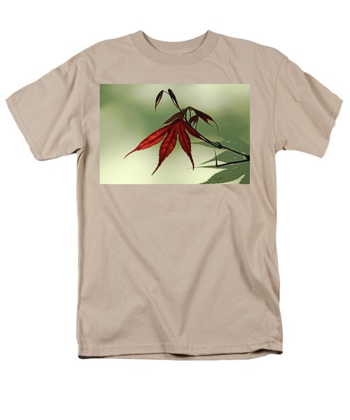 Men's T-Shirt  (Regular Fit) featuring the photograph Japanese Maple Leaf by Ann Lauwers