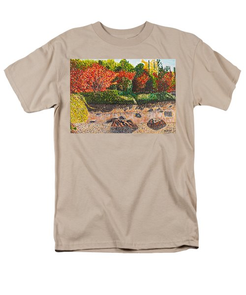 Japanese Maple Trees At The Creek Men's T-Shirt  (Regular Fit) by Valerie Ornstein