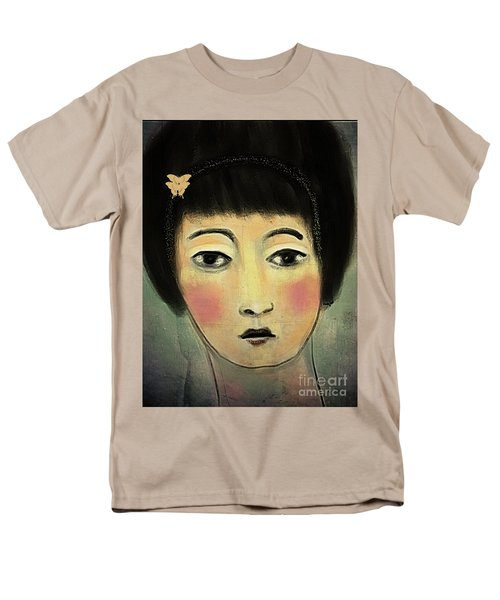 Japanese Woman With Butterflies Men's T-Shirt  (Regular Fit) by Alexis Rotella