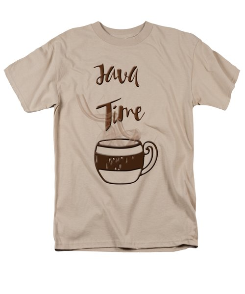 Men's T-Shirt  (Regular Fit) featuring the photograph Java Time - Steaming Coffee Cup by Joann Vitali