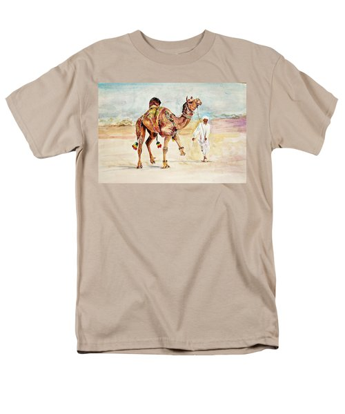 Jewellery And Trappings On Camel. Men's T-Shirt  (Regular Fit) by Khalid Saeed