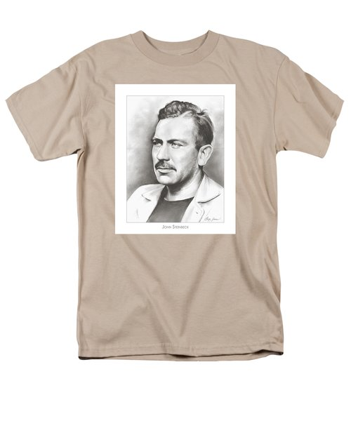 John Steinbeck Men's T-Shirt  (Regular Fit) by Greg Joens