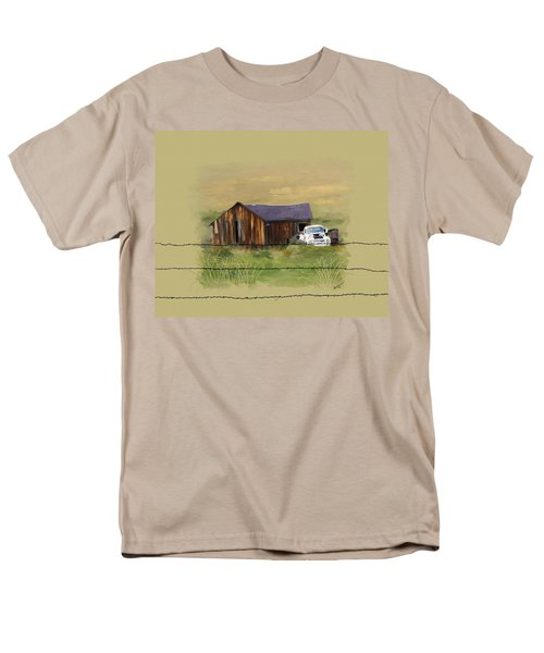 Men's T-Shirt  (Regular Fit) featuring the painting Junk Truck by Susan Kinney