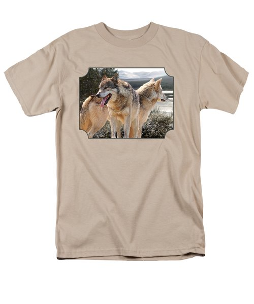 Keeping Watch - Pair Of Wolves Men's T-Shirt  (Regular Fit) by Gill Billington