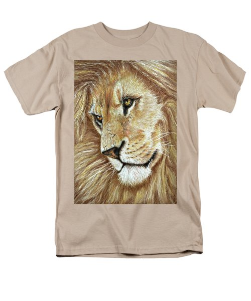 Men's T-Shirt  (Regular Fit) featuring the drawing King Of The Jungle by Heidi Kriel