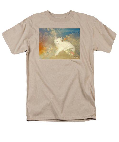 Kitty Art Precious By Sherriofpalmsprings Men's T-Shirt  (Regular Fit) by Sherri's Of Palm Springs