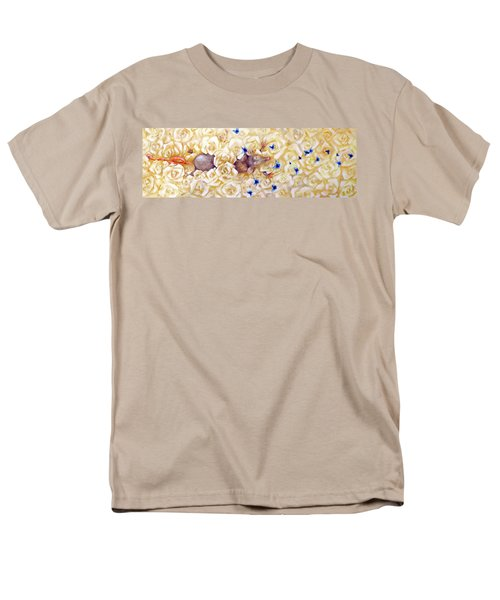 Men's T-Shirt  (Regular Fit) featuring the painting La Vie En Rose by Dina Dargo