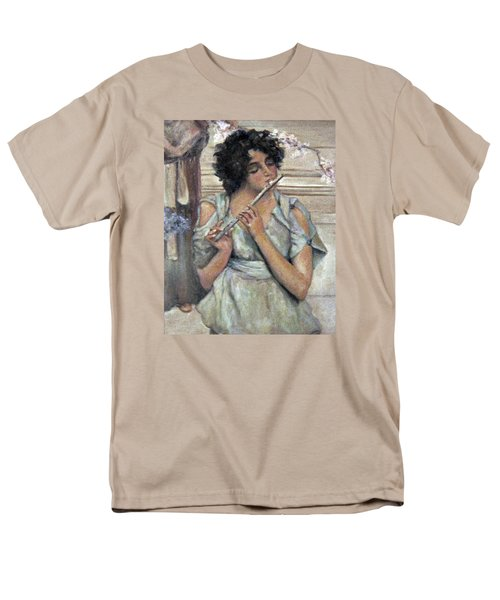 Lady Playing Flute Men's T-Shirt  (Regular Fit) by Donna Tucker