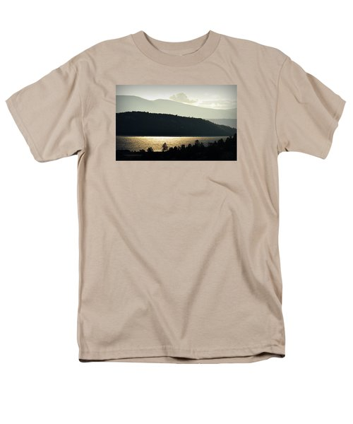 Men's T-Shirt  (Regular Fit) featuring the photograph Lake Glimmer by AJ  Schibig
