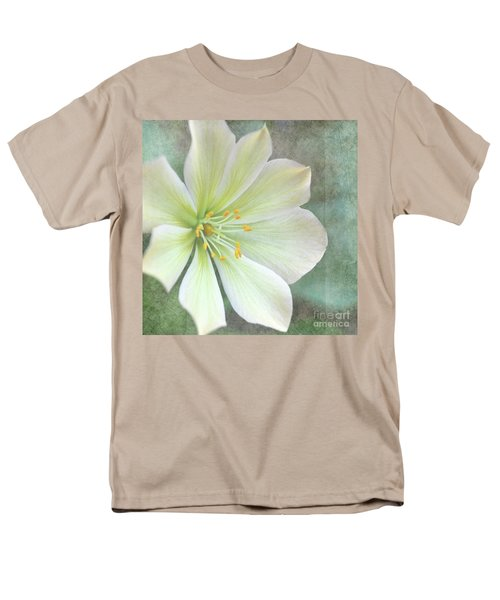Men's T-Shirt  (Regular Fit) featuring the pyrography Large Flower by Lyn Randle
