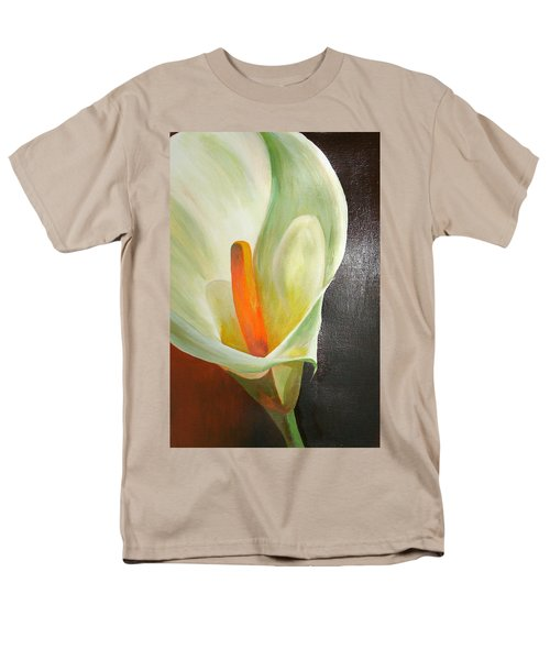 Large White Calla Men's T-Shirt  (Regular Fit) by Tracey Harrington-Simpson