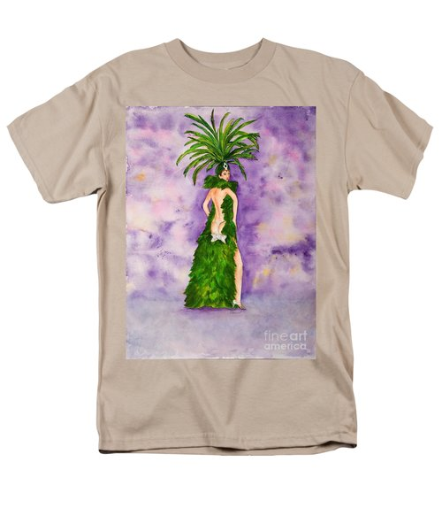 Men's T-Shirt  (Regular Fit) featuring the painting Las Vegas Show Girl by Vicki  Housel