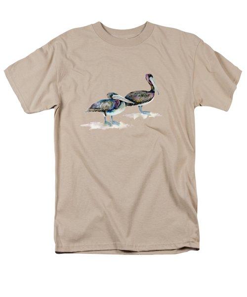 Laurel And Hardy, Brown Pelicans Men's T-Shirt  (Regular Fit) by Amy Kirkpatrick