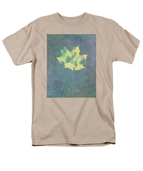 Men's T-Shirt  (Regular Fit) featuring the photograph Leaves Through Maple Leaf On Texture 3 by Gary Slawsky