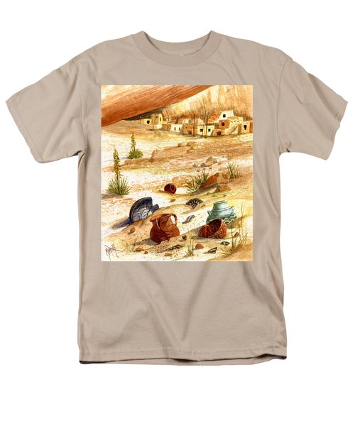 Men's T-Shirt  (Regular Fit) featuring the painting Left Behind - Indian Pottery by Marilyn Smith
