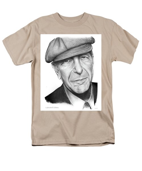 Leonard Cohen Men's T-Shirt  (Regular Fit) by Greg Joens