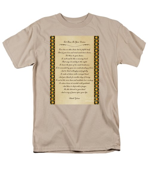 Let These Be Your Desires By Khalil Gibran Men's T-Shirt  (Regular Fit) by Olga Hamilton