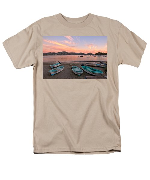 Life In A Fishing Village Men's T-Shirt  (Regular Fit) by Jim Walls PhotoArtist