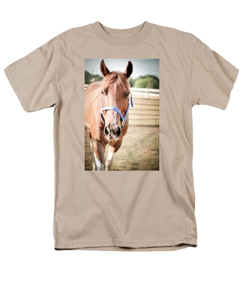 Men's T-Shirt  (Regular Fit) featuring the photograph Light Brown Horse Named Flash by Kelly Hazel