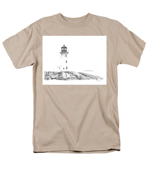 Lighthouse Of Peggy's Cove Men's T-Shirt  (Regular Fit) by Patricia Hiltz