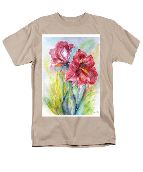 Lily Red Men's T-Shirt  (Regular Fit) by Jasna Dragun