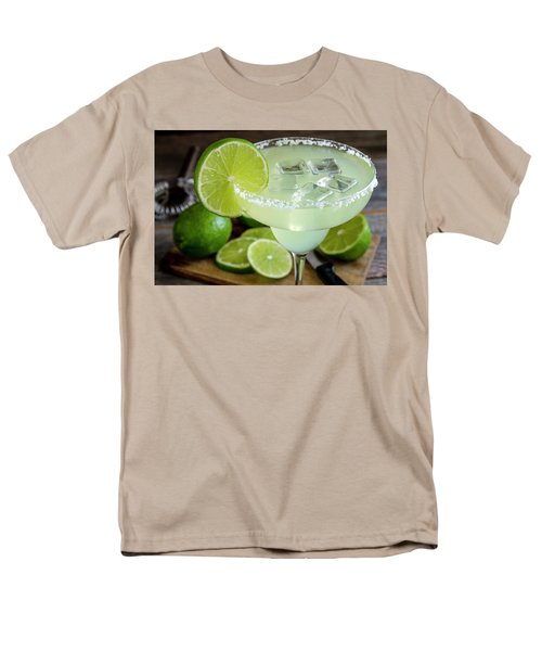 Men's T-Shirt  (Regular Fit) featuring the photograph Lime Margarita Drink by Teri Virbickis