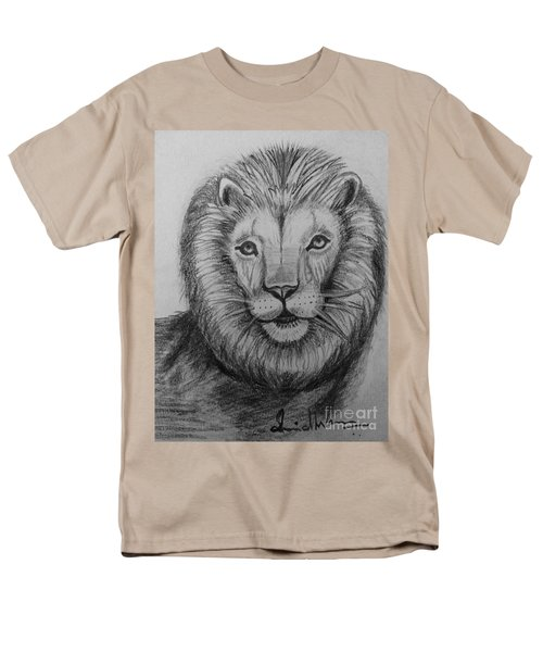 Men's T-Shirt  (Regular Fit) featuring the painting Lion by Brindha Naveen