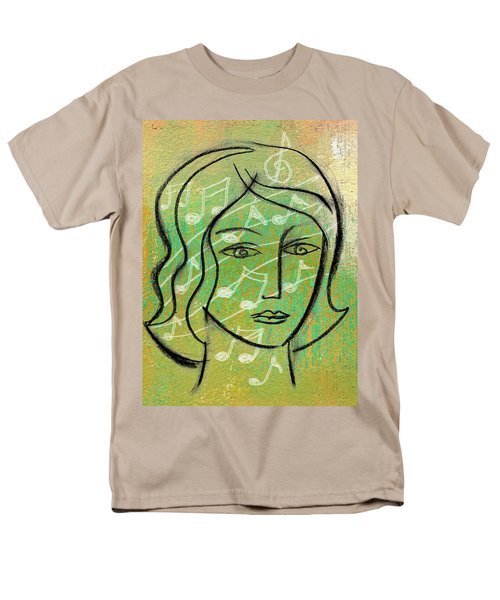 Men's T-Shirt  (Regular Fit) featuring the painting Listening To Music by Leon Zernitsky