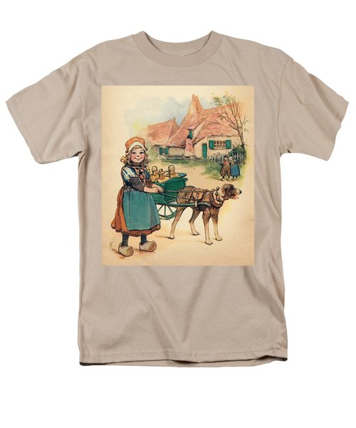 Little Dutch Girl With Milk Wagon Men's T-Shirt  (Regular Fit) by Reynold Jay