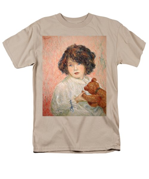 Little Girl With Bear Men's T-Shirt  (Regular Fit) by Pierre Van Dijk