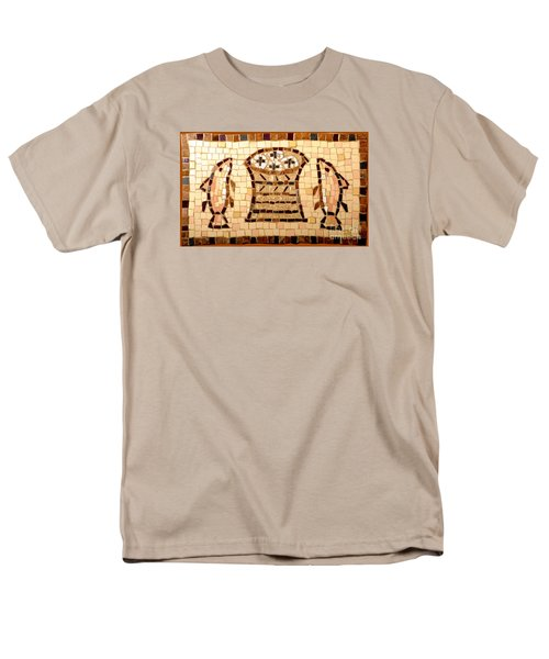 Loaves And Fishes Mosaic Men's T-Shirt  (Regular Fit) by Lou Ann Bagnall