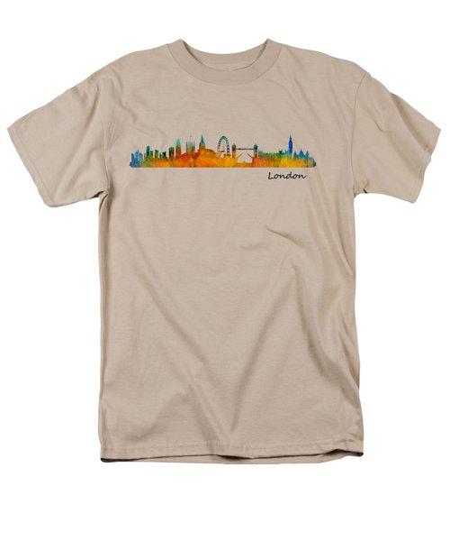 London City Skyline Hq V1 Men's T-Shirt  (Regular Fit)